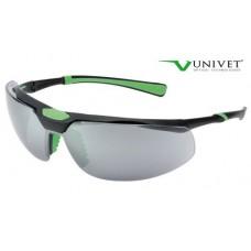 Univet 5X3 Matt Black/Green Pc Smoked-Black