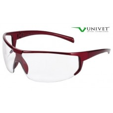 Univet 5X4 Red Frame Pc Clear
